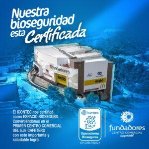 Nuestra bioseguridad está certificada por ICONTEC